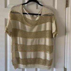 Strip gold sweater